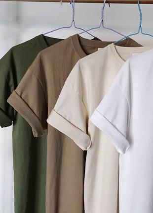 Комплект футболок 4 шт. на лето в топ цветах //oversize//
