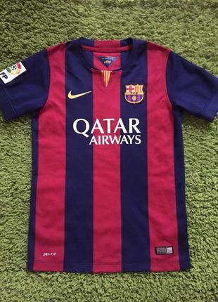 Детская спортивная футболка nike fc barcelona