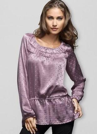 Шелковая туника- блузка размер евро 42 от чибо тсм tchibo
