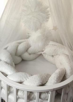 Коса минки в кроватку