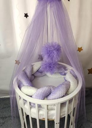 Косичка-бортики в детскую кроватку