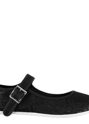 Балетки slazenger mary jane uk 4 (37) 23 см черный с кружевом