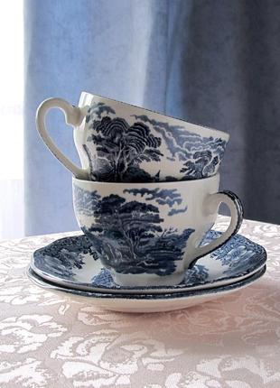 Фарфоровая чайная пара wedgwood (англия)