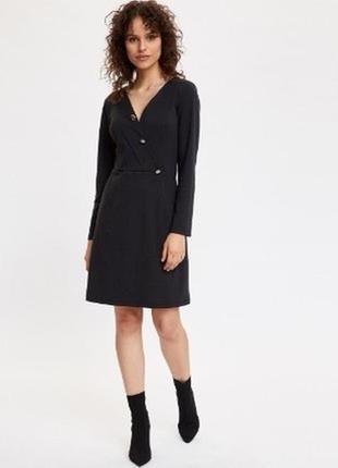Маленькое чёрное платье рубаха topshop в идеальном состоянии