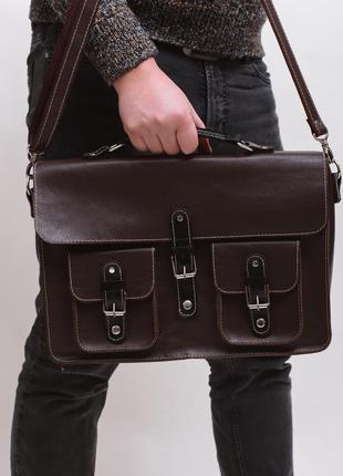 Портфель кожаный мужской ejen