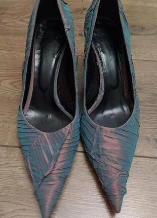 Туфли maria tucci, 39 размер. тканевые. выпускные, свадебные.
