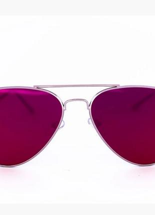 Солнцезащитные зеркальные очки унисекс авиатор - стальные