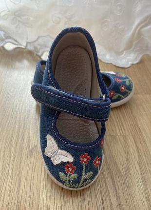 Джинсовые туфельки, тапочки waldi