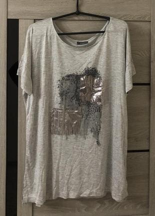 Вискозная футболка с принтом