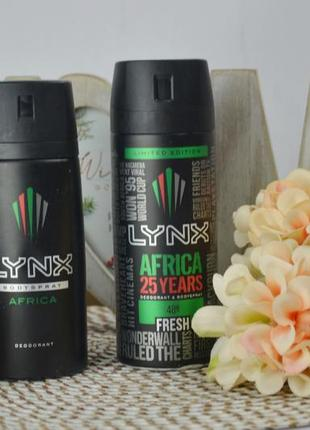 Фирменный дезодорант для тела lynx africa deodorant bodyspray 150 ml