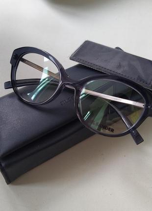 Новая титановая оправа jil sander оригинал очки премиум жиль сандер прозрачная