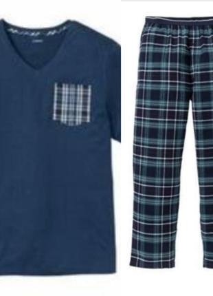 Домашний костюм livergy l пижама реглан и штаны 52-54
