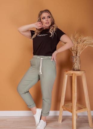 Женские брюки из натурального льна