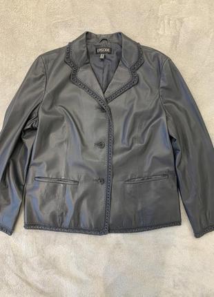 Кожаная куртка, пиджак из тонкой, мягкой натуральной кожи