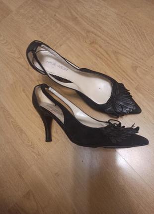 Шкіряні лодочки туфлі 37,5-38 туфли кожа