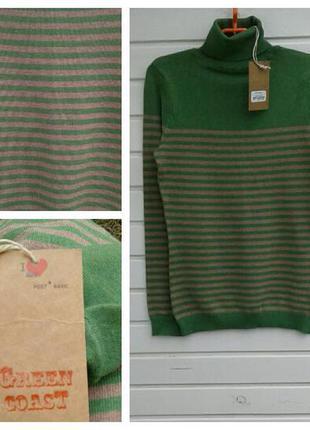 Новый свитер в полоску от basic s,m