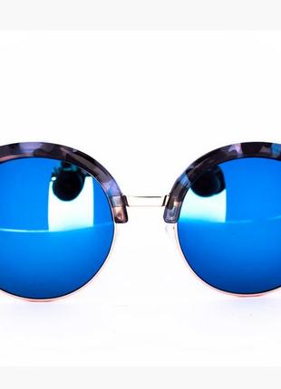 Эксклюзивные солнцезащитные зеркальные очки клабмастер - синие