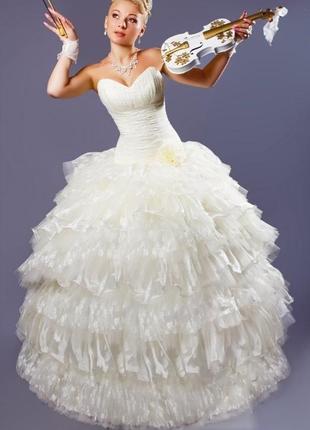 Свадебное платье трансформер со съёмной юбкой