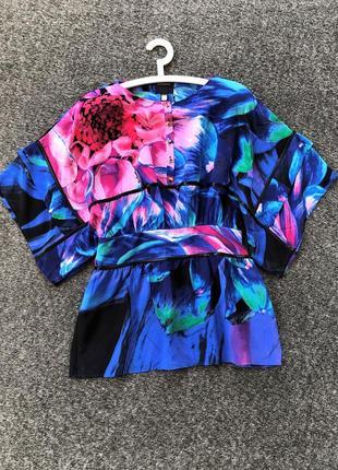 Изумительное шикарное шелковое платье мини туника от class roberto cavalli