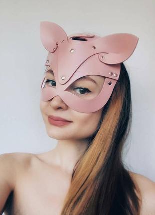 Кожаная маска кошки, кролика ( цвета разные)