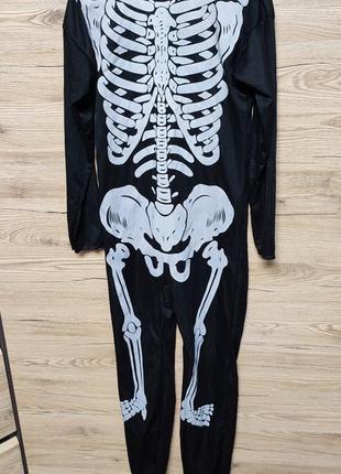 Детский костюм скелет на 9-10 лет на хеллоуин