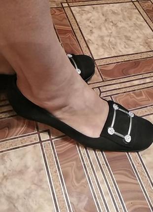 Черные туфли под замш,размер38-38,5