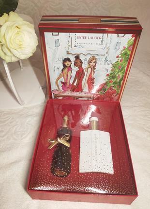 Подарочный винтажный набор estee lauder youth-dew в коробке