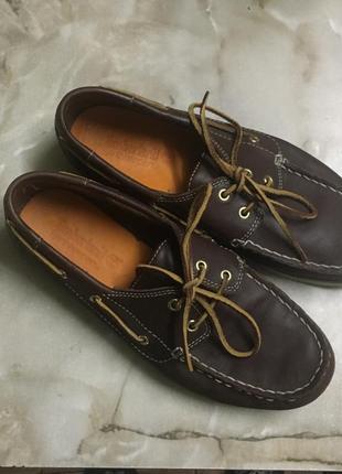 Топсайдеры туфли лоферы 💯 % кожа р 38,5