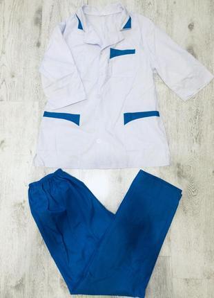 Медицинский костюм /блуза/брюки на резинке