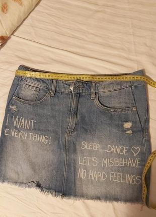 Юбка джинсовая 36-38