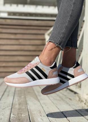 Adidas iniki 🍏 стильные женские кроссовки адидас