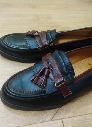 Кожаные туфли чехословацкое изделие svit/мужские туфли