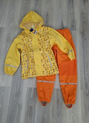 Комплект дождевик куртка и штаны (без подкладки) lupilu 122/128