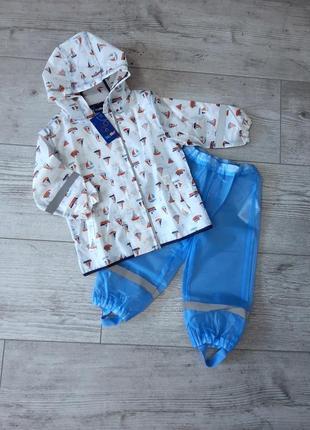 Комплект дождевик куртка и штаны (полупрозрачный) lupilu 122/128