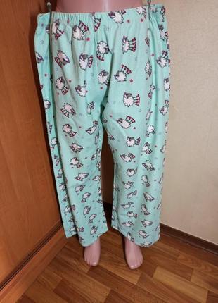 Пижамные брюки байка хлопок с овечками