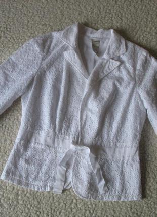 Белый кружевной пиджак