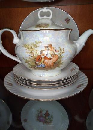 """Повний чайний і столовий сервіз """"мадонна"""" польша на 12 персон"""