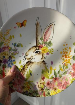 Тарілка весняний кролик 24 см
