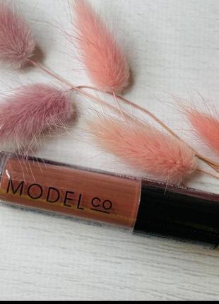 Нюдовая матовая помада для губ model co matte lip cream