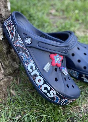 Женские crocs сабо bayaband синие 36-40