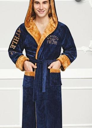 Эксклюзивный длинный мужской махровый халат