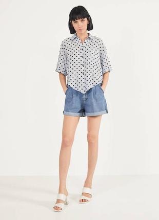 😍укорочённая рубашка на завязках, блуза, блузка