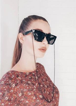 Новая цепочка на очки черная для очков. ланцюжок для окулярів.