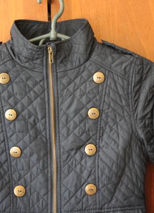 Стеганая куртка на флисе next на девочку 9-10 л 140 см рост