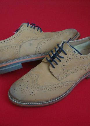 Туфли броги clarks натуральная кожа 42