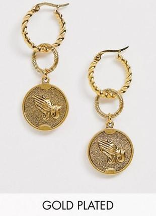 Позолоченные серёжки ладони кольца asos подвески на браслет