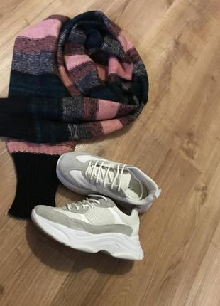 Шикарные кроссовки, натур.кожа/замш, topshop, размер 37/38