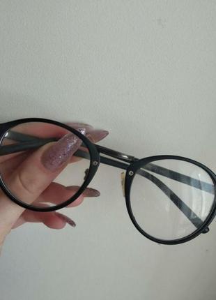 Имиджевые очки круглые оправа для очков обмен