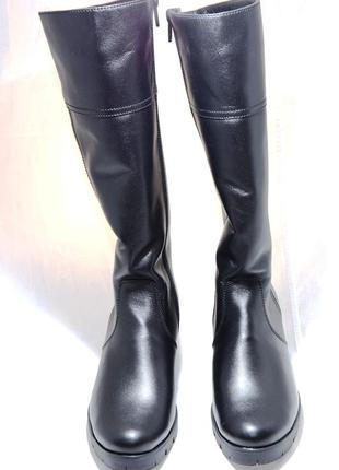 Сапоги женские зимние на меху (573). кожаная женская обувь