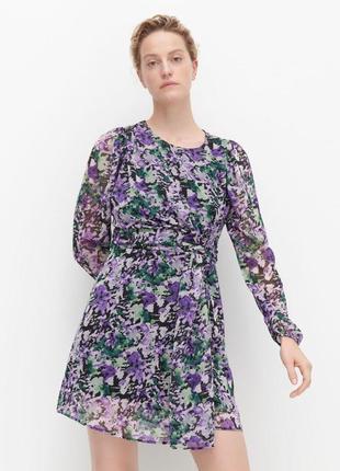 Платье сукня мини платье цветочный принт